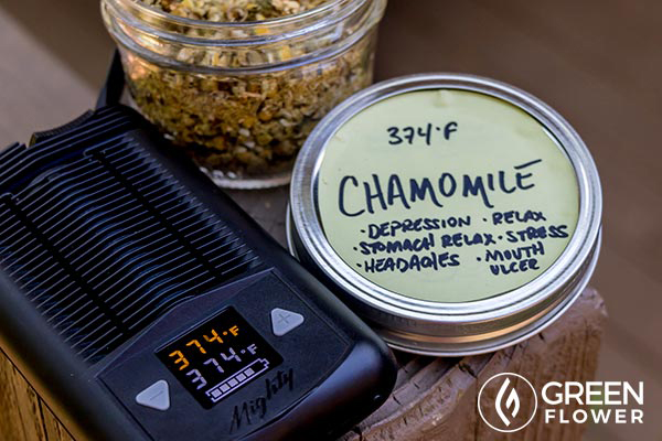 Mighty vaporizer and chamomile