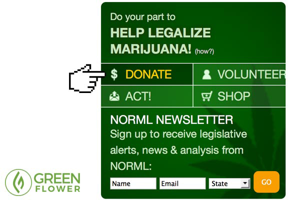 NORML donate box