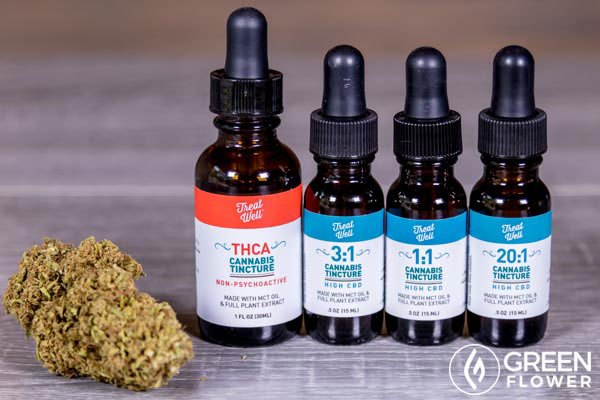Different types of cannabis tincture