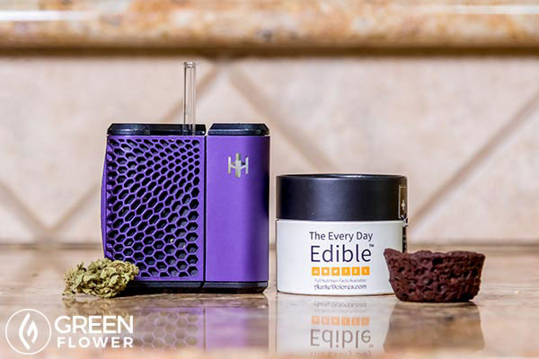cannabis vaporizer and edibles