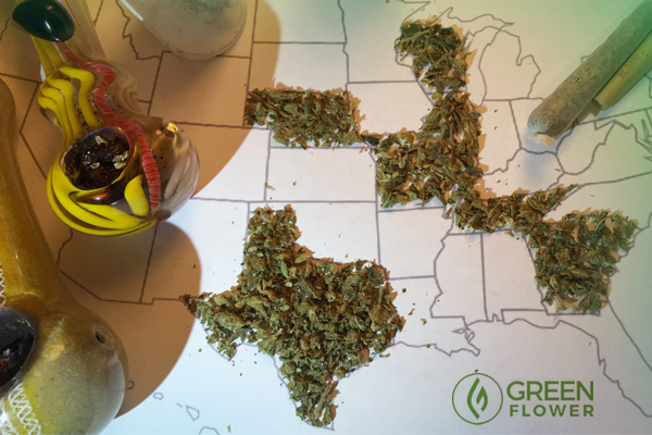 Map with cannabis