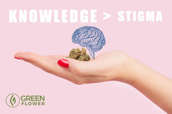 hand holding cannabis bud