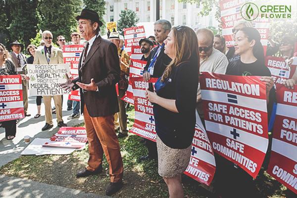 Steve DeAngelo had a cannabis legalization rally