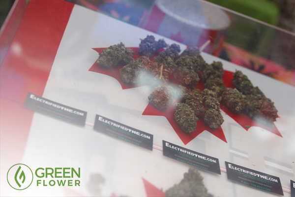 Cannabis and Canadian flag
