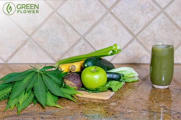 raw cannabis salad
