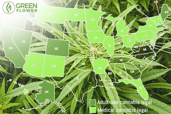 Cannabis legalization map