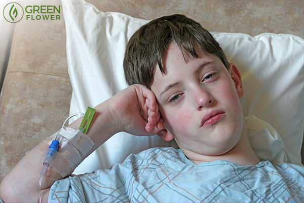 Young boy in a hospital