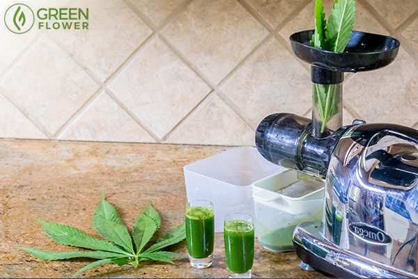 juicing produce and cannabis