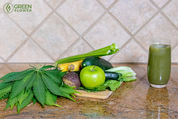 juicing cannabis and produce