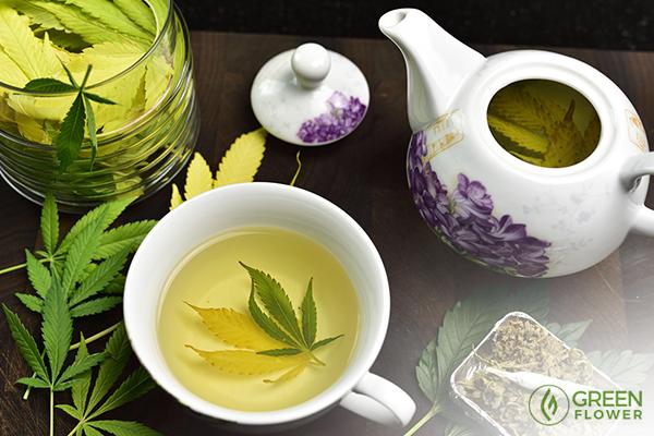 Make your own cannabis tea