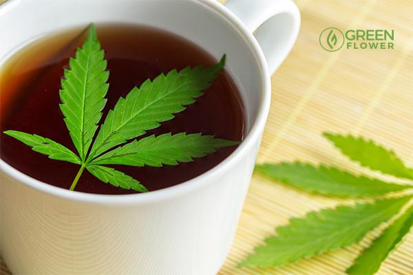 Cannabis stem tea