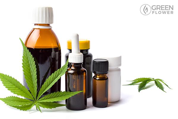 Bottles of cannabis oil