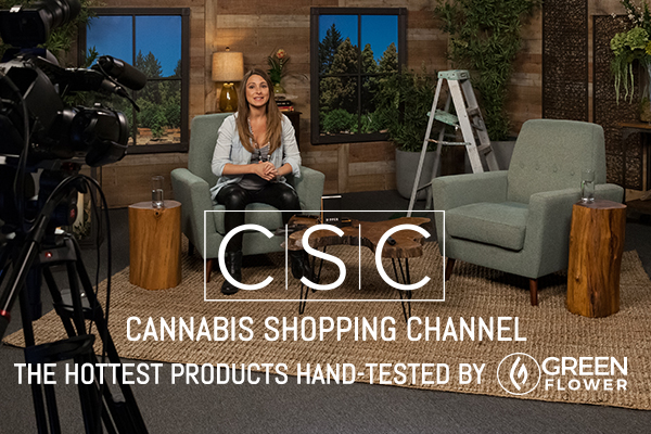 On the set of Cannabis Shopping Channel
