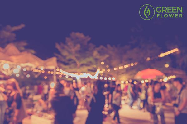 blur image of social gathering
