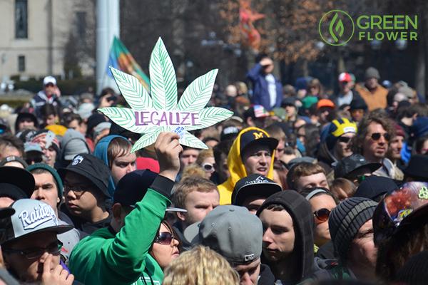 legalize written on big cannabis leaf