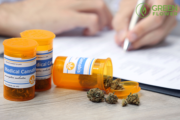 medical cannabis in bottles