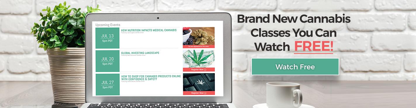 Landing page banner live classes